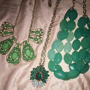 Blue Green necklace bundle